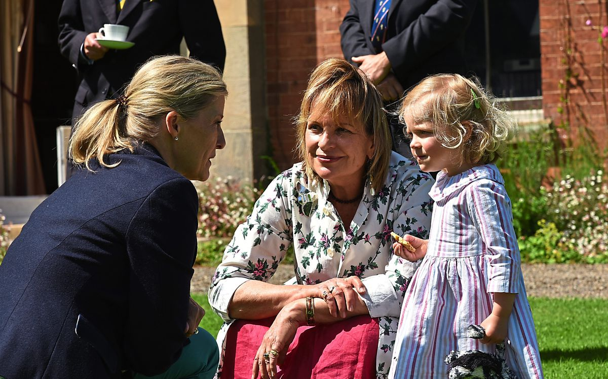 Sophie, Countess of Wessex, chats to one of her younger fans