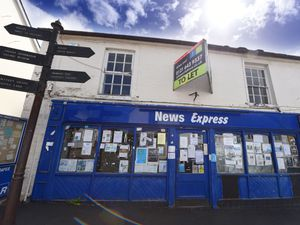 The newsagents in Church Street, Bishops Castle