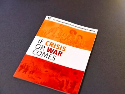 Sweden sends out brochure telling people to get ready for war