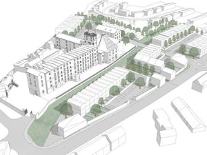 An artist's impression shows how the site could look