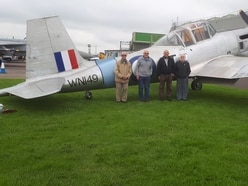 Heritage group are celebrating plane's completion