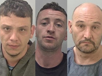 Jailed: 'Cruel and vicious' trio left man unconscious and needing metal plates in jaw after attack