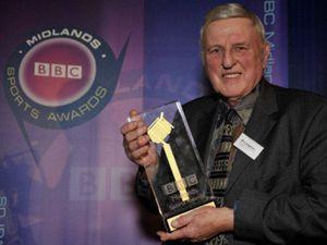 Bill Longmore with his BBC award
