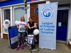 Ludlow bank staff show support for community hospital