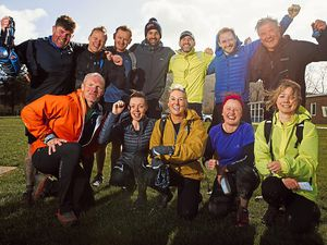Walkers who took part in Saturday's 13-mile Pontesbury Potter which raises money for the Severn Hospice