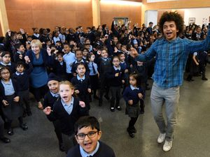 Radzi, pictured on a visit to St Lukes School, sees the benefit of exercise