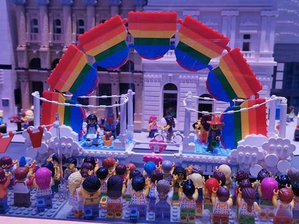 Pride celebrations recreated at Legoland Discovery Centre in Birmingham