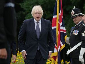 Prime Minister Boris Johnson attends the unveiling of the UK Police Memorial