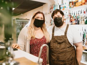 Matt Lorenz and Marie Ryley of Novella Craft and Cocktails in Newport