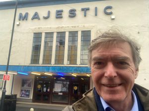MP Philip Dunne outside the Majestic Cinema