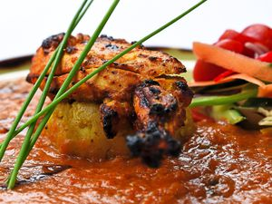 Char-grilled guinea fowl breast