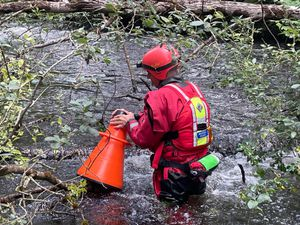 A search and rescue volunteer in Llanidloes
