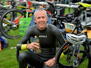 Triathlete, Mike Kirk from Oswestry at last year's event