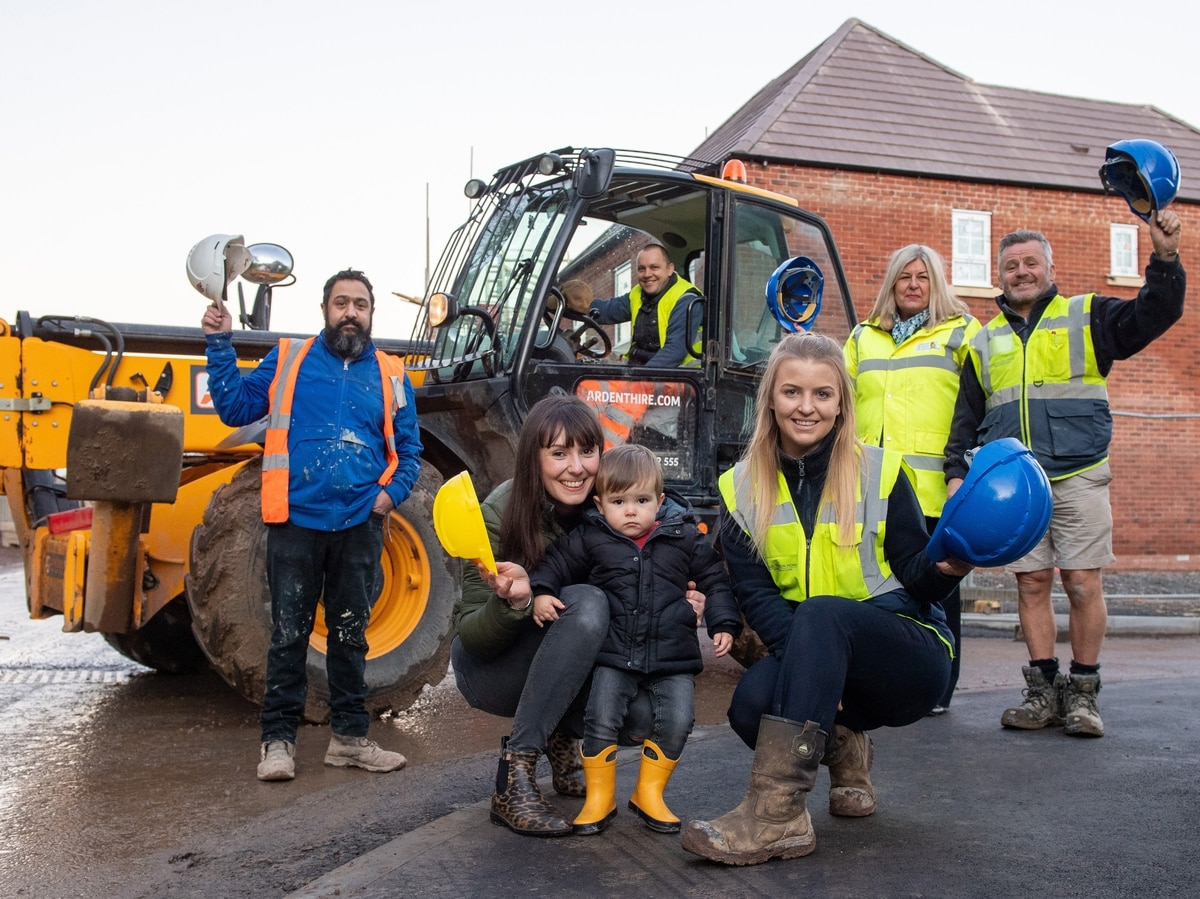 Young blood on Telford homes site