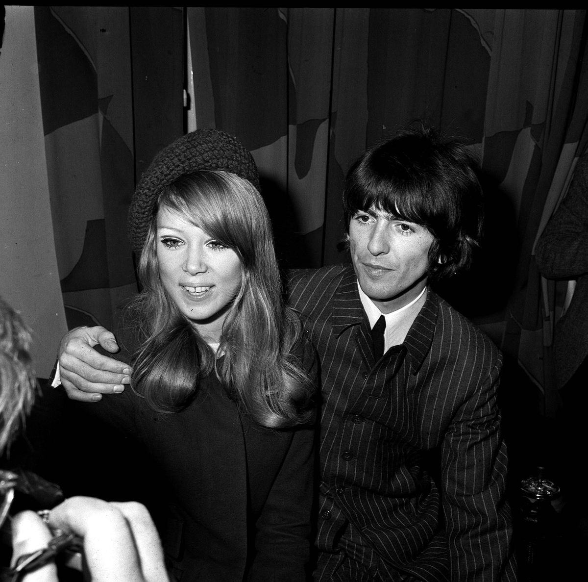 George Harrison and wife Pattie, with whom Clapton was obsessed.