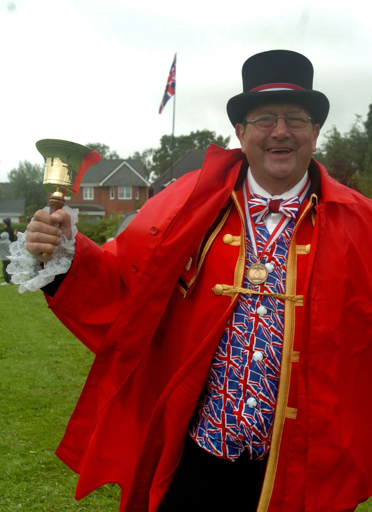 Market Drayton town crier Geoff Russell proclaiming the 2012 Diamond Jubilee