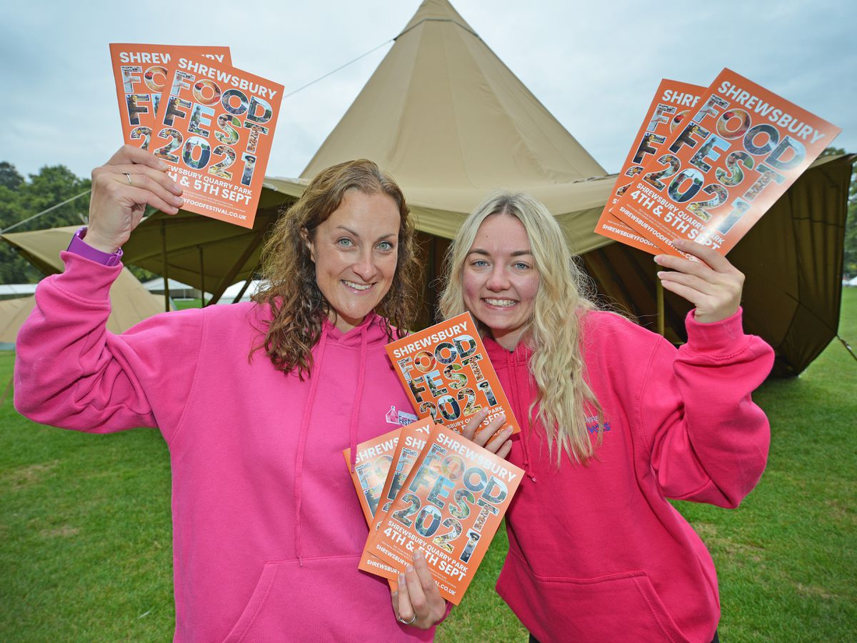 Beth Heath and Katie Haddock, from the events team, are looking forward to the Shrewsbury Food Festival