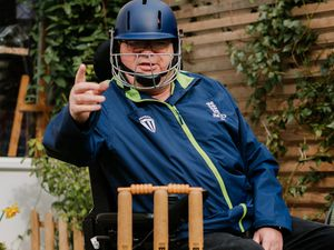 LAST COPYRIGHT SHROPSHIRE STAR JAMIE RICKETTS 27/03/2021 - Cricket Umpire John McIntear from Telford is chuffed that Telford MP Lucy Allan is due to speak in Parliament about his campaign for more adaptable wheelchairs to enable more people with disabilities to participate in sports at all levels..