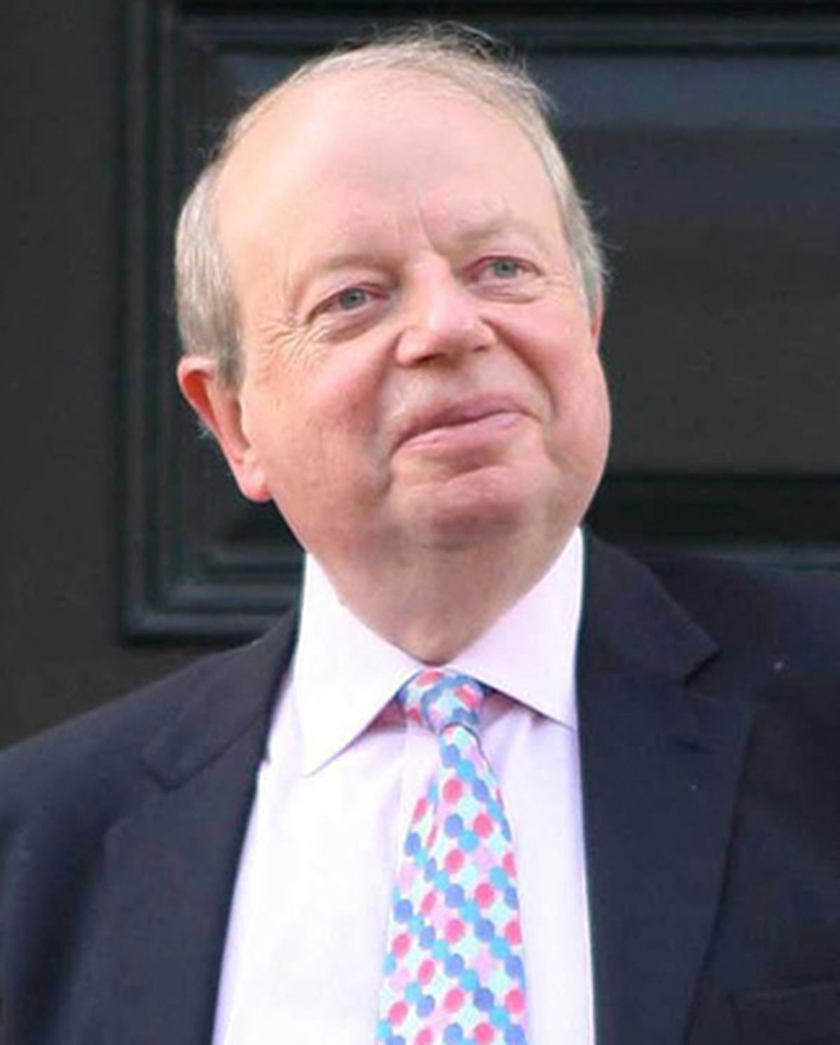 John Sergeant leaves his home in west London, after announcing that he had quit Strictly Come Dancing.