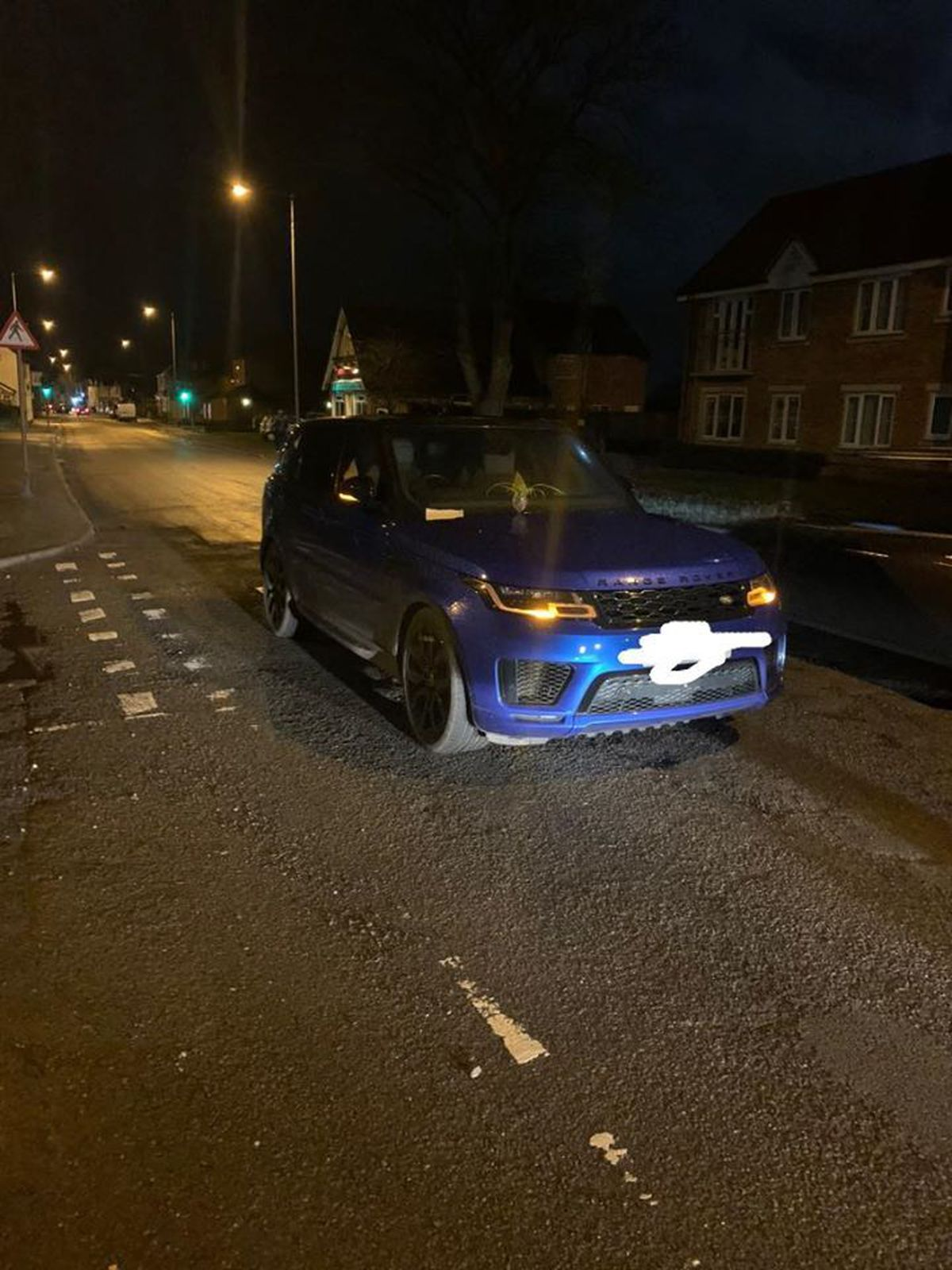 The car was left on Shifnal High Street on the wrong side of the road