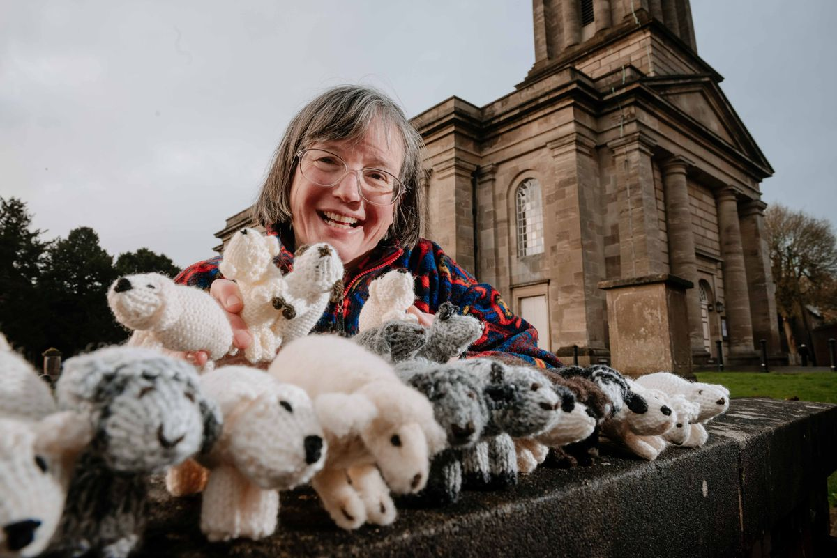 LAST COPYRIGHT SHROPSHIRE STAR JAMIE RICKETTS 22/11/2019 - St Mary's Church in Bridgnorth will be joining up with shops in the town to do a sheep trail. In Picture: Organiser Sarah Cawdell..