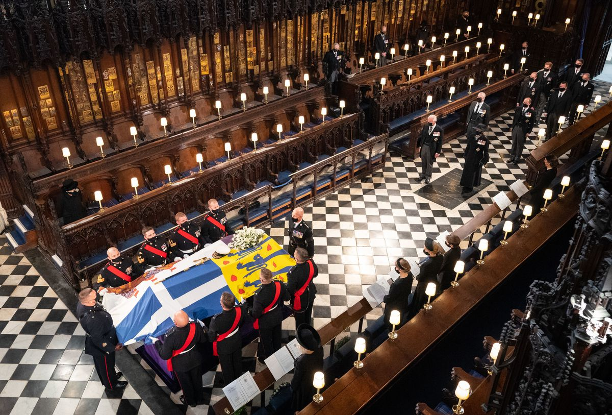 The funeral was held in St George's Chapel