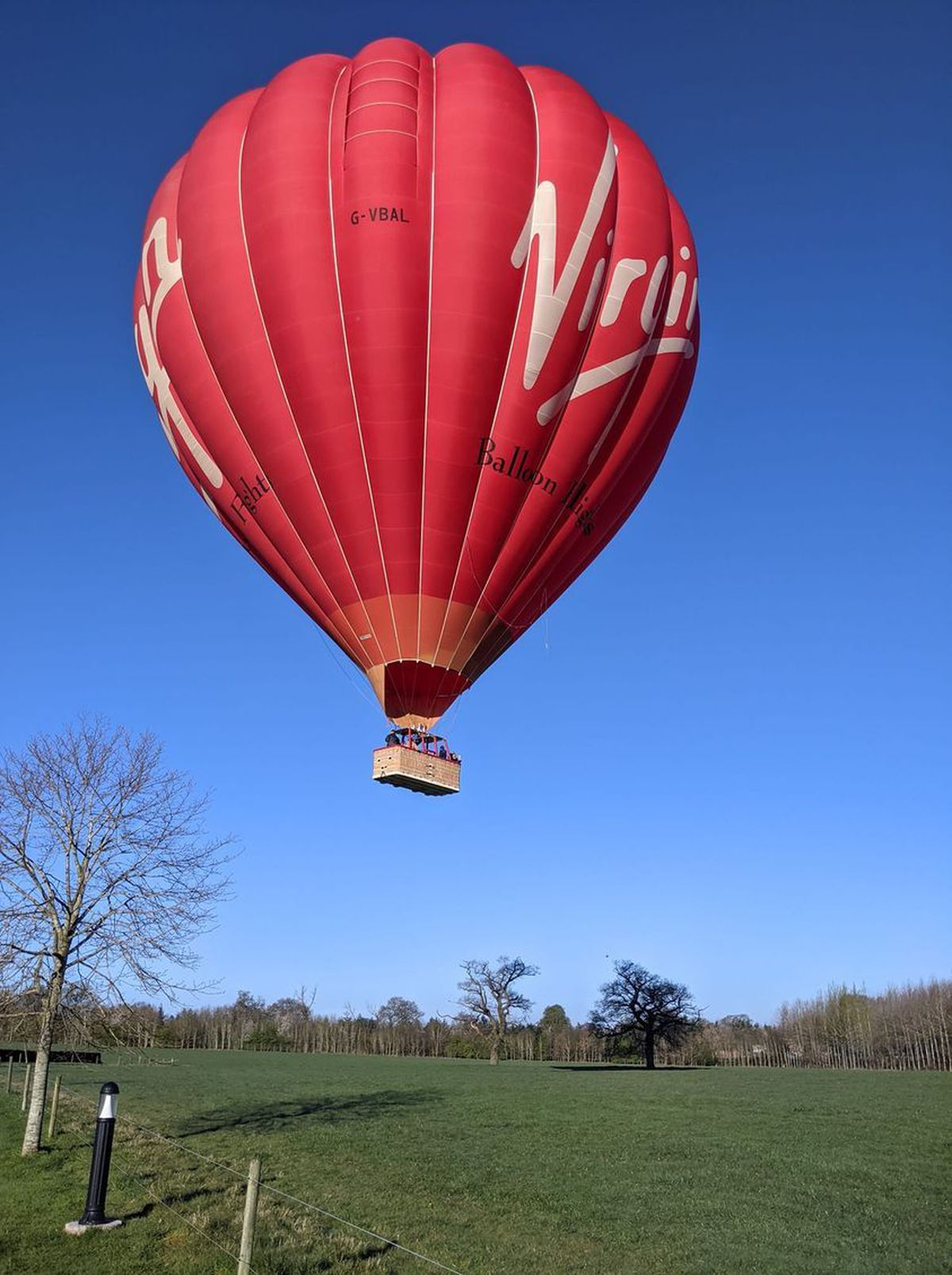 The Virgin balloon takes to the skies