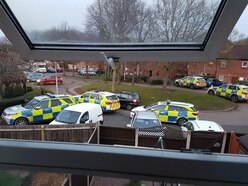 Armed police called out in Telford hunt for man - with video