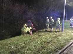 Man charged with drink-driving after car crashes into embankment