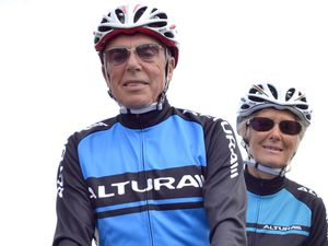 Norman and Sylvia are record-holding veteran tandem cyclists.