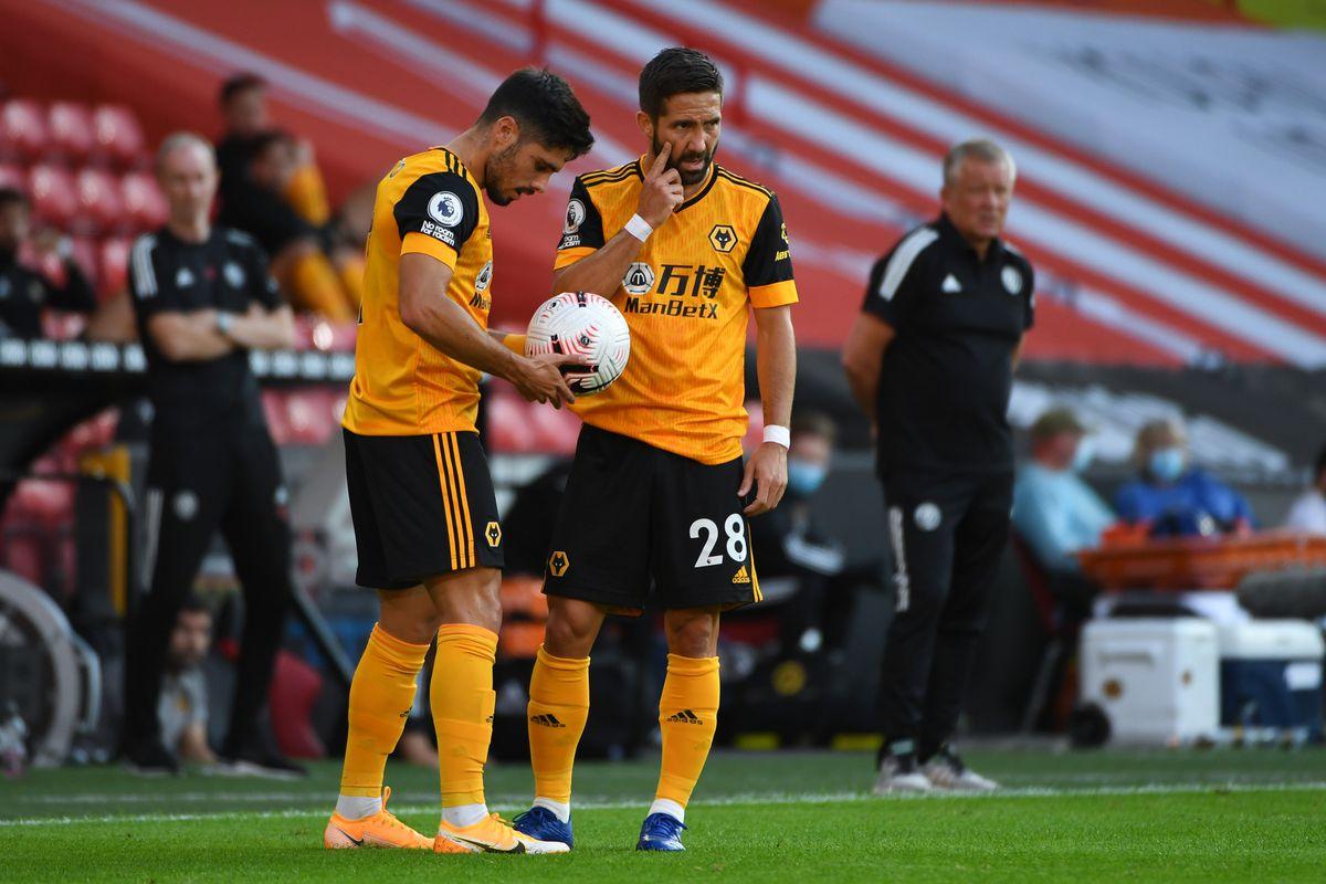 Ruben Neves and Joao Moutinho of Wolverhampton Wanderers. (AMA)