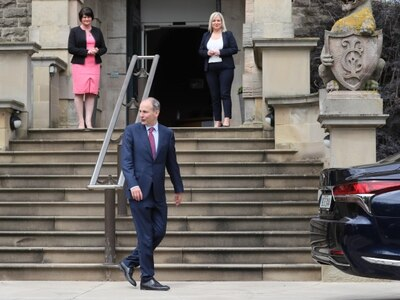 Micheal Martin at Stormont for talks in first visit as Taoiseach
