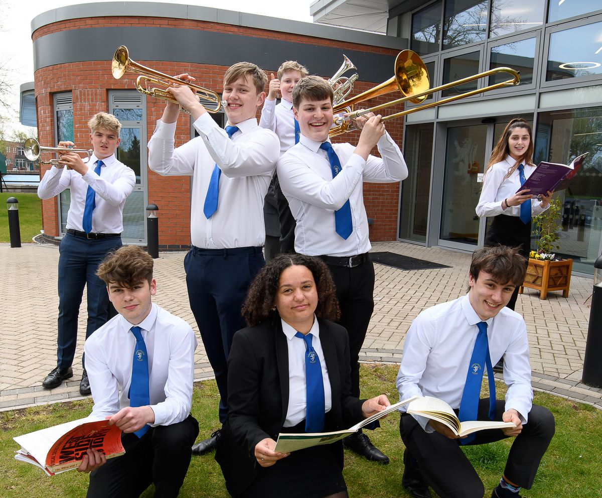Wrekin College music students celebrate their grade eight success