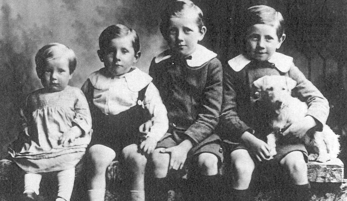 """These four Wood brothers pictured in their Sunday best in the 1920s were to make their mark on Shropshire. This picture was loaned by Patrick Wood of Church Stretton who tells us: """"From left are Basil, Charlie, Wilmot, and Jim. The brothers went on to buy The Grove outside Craven Arms in 1956, and move their small business J P Wood and Sons from Market Street, Craven Arms, with 10 employees. In 1978 when my father Charlie retired the company employed over 1,300 and was one of the biggest employers in Shropshire with three million head of poultry on the floor at any one time marketed under the Chukie brand name. It was a prominent brand in the 1960s and 70s. It was one of the largest poultry companies in the country."""""""