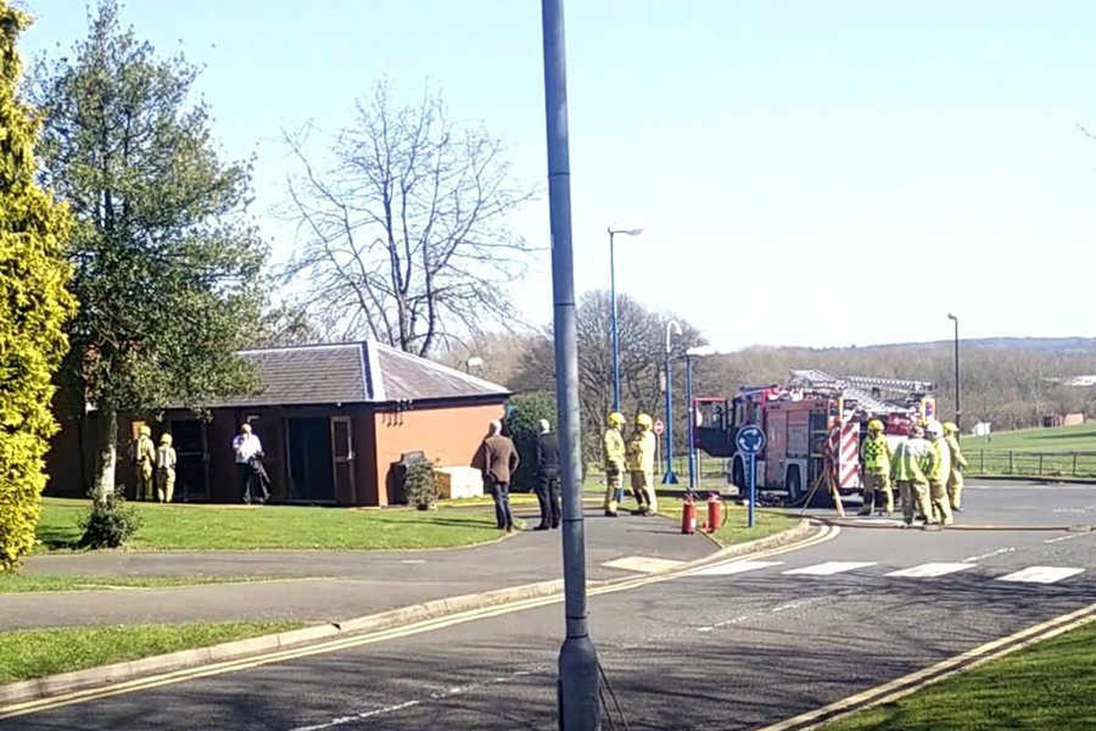 Telford university campus evacuated after fire in substation causes power cut