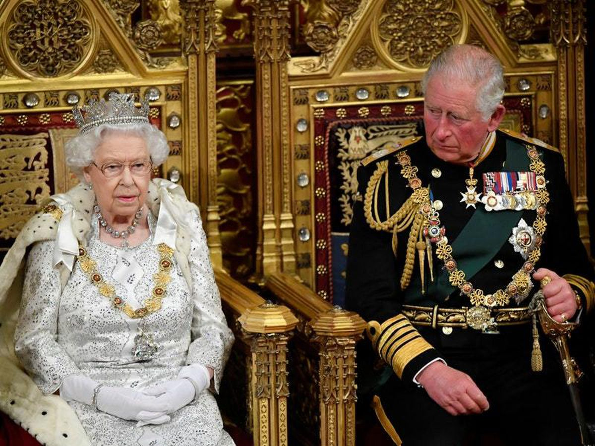 The Queen delivers her speech alongside the Prince of Wale