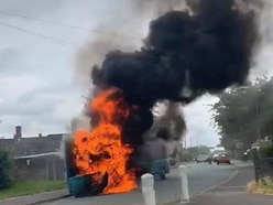 Firefighters tackle blazing bus in Shrewsbury - with video and pictures