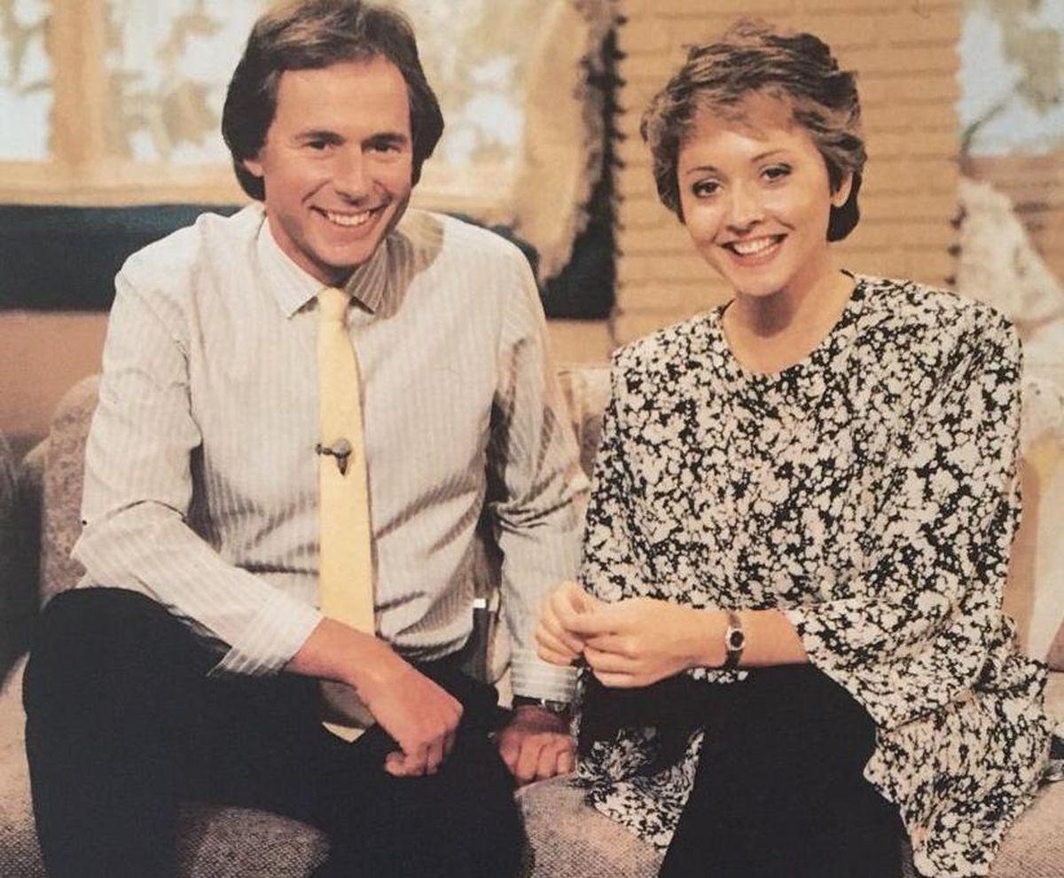 Early days – Nick Owen with Anne Diamond