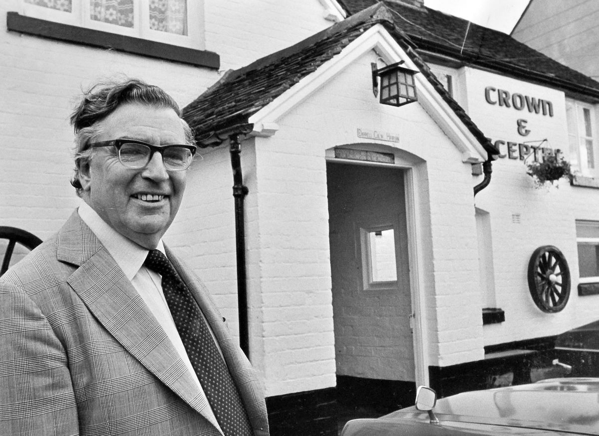 Tony Shryane, producer of The Archers for 28 years, in Minsterley in 1980 to eavesdrop on the village show preparations.
