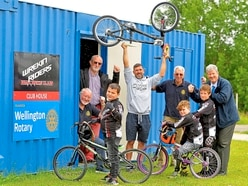 Rotary club boost for young Telford BMX riders