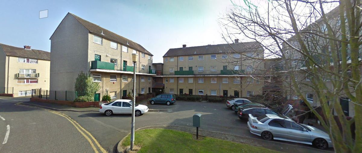 Plans have been submitted to knock the flats down.