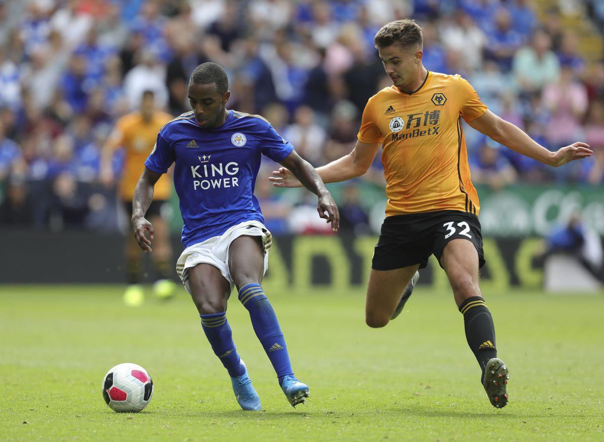 Ricardo Pereira of Leicester City and Leander Dendoncker (AMA)