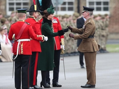 In Pictures: Green is the colour as Kate joins in St Patrick's Day celebrations