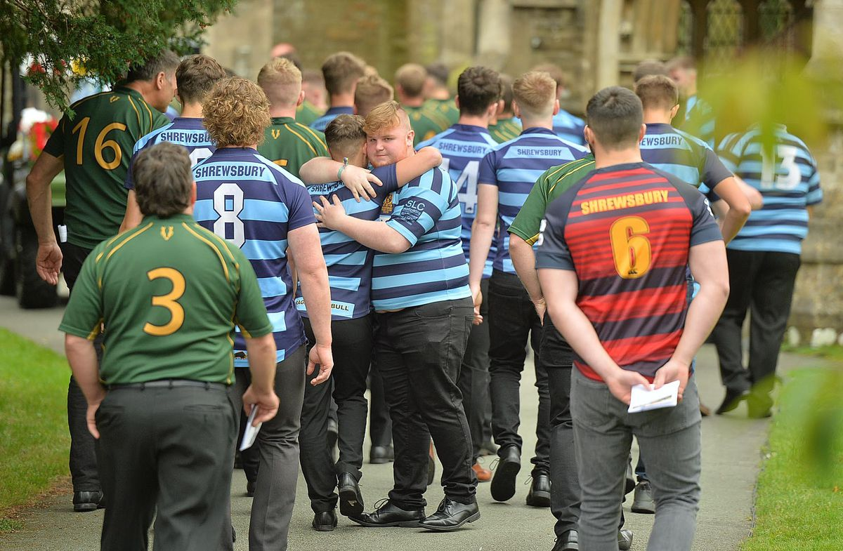 Dylan was a keen rugby player and many friends and teammates attended