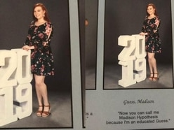This student has gone viral for an inventive pun on her own name in her yearbook