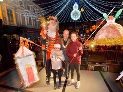Shrewsbury is lit up for Christmas