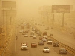 Sandstorms and hail hit Middle East