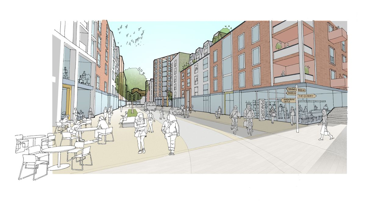 How 'New Smithfield Road' could look. Picture: LDA Design