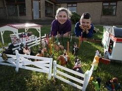 Family recreates Royal Highland Show in garden with Lego and Playmobil