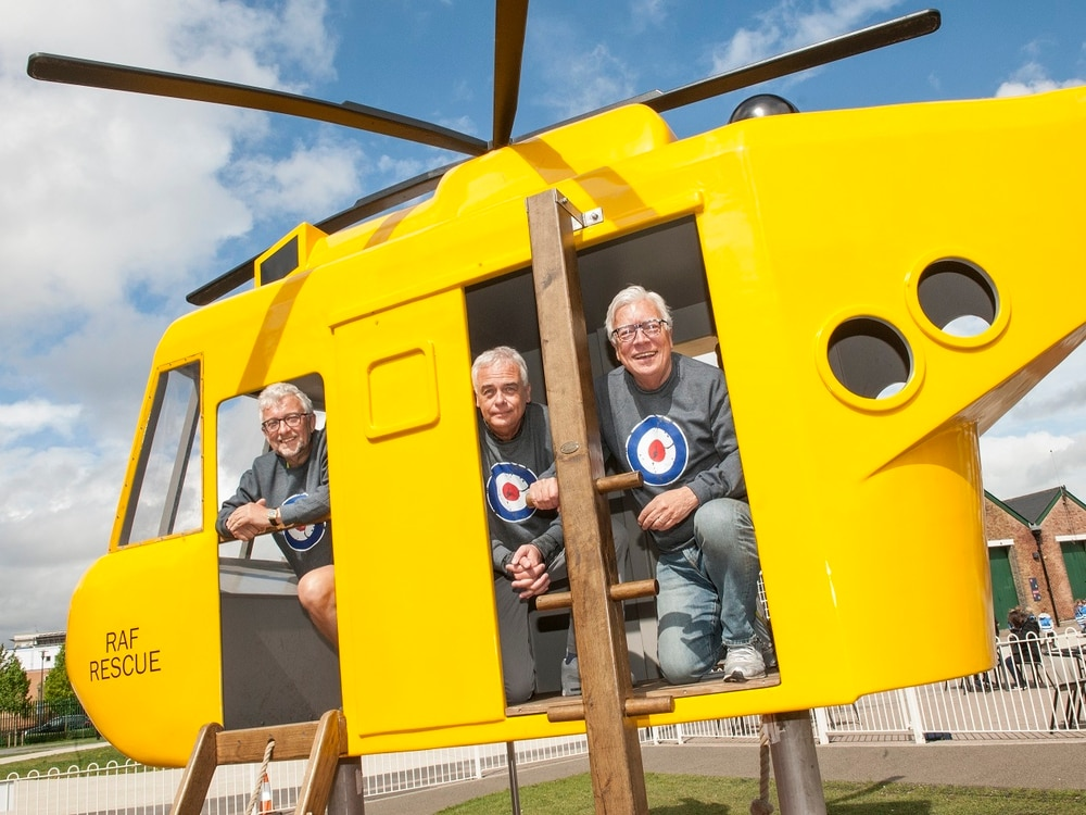 Charity walkers stride to RAF Cosford to help fund playground